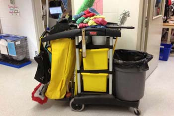 school cleaners cart